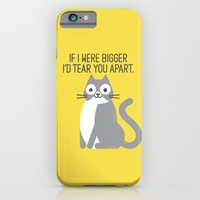 iPhone & iPod Case featuring Purrfectly Honest by David Olenick