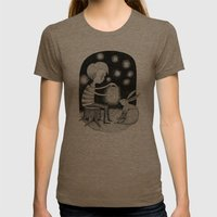 'Save Your Light For Dar… Womens Fitted Tee Tri-Coffee SMALL