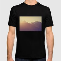 Sunrise Over The Mountai… Mens Fitted Tee Black SMALL