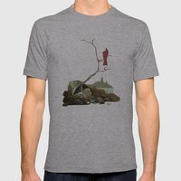 CARDINAL LOOMS Mens Fitted Tee Athletic Grey SMALL