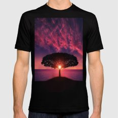 Lonely tree Mens Fitted Tee Black SMALL