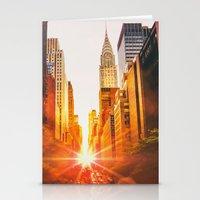 NYC Skyline Sunset Stationery Cards