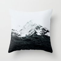 Those waves were like mountains Throw Pillow