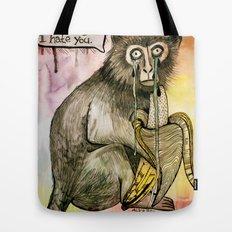 Sad Monkey Tote Bag