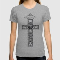 Celtic Invader Cross Womens Fitted Tee Athletic Grey SMALL