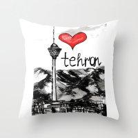 I Love Tehran  Throw Pillow