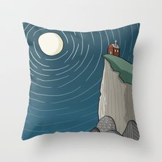 House on a Cliff Throw Pillow