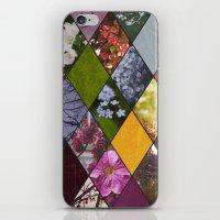 Diamond Flower Collage iPhone & iPod Skin