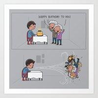 Super Birthday Art Print