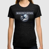 White Lotus in Training Womens Fitted Tee Tri-Black SMALL
