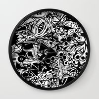 Black/White #1 Wall Clock