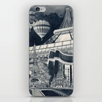 French Collage V1 Negati… iPhone & iPod Skin
