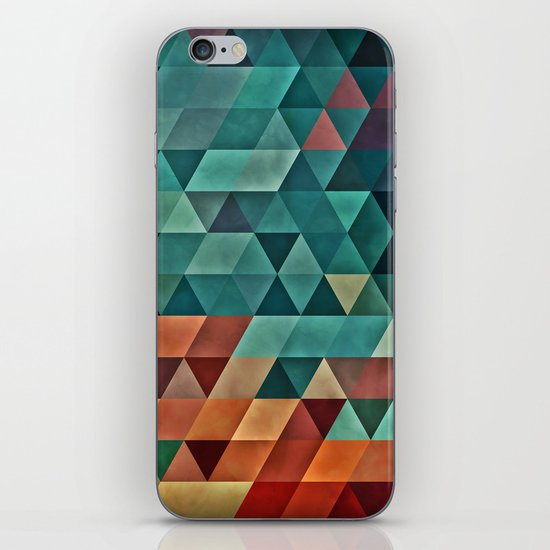 Teal/Orange Triangles iPhone & iPod Skin