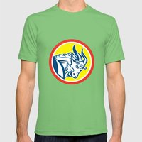 Mountain Goat Ram Head C… Mens Fitted Tee Grass SMALL