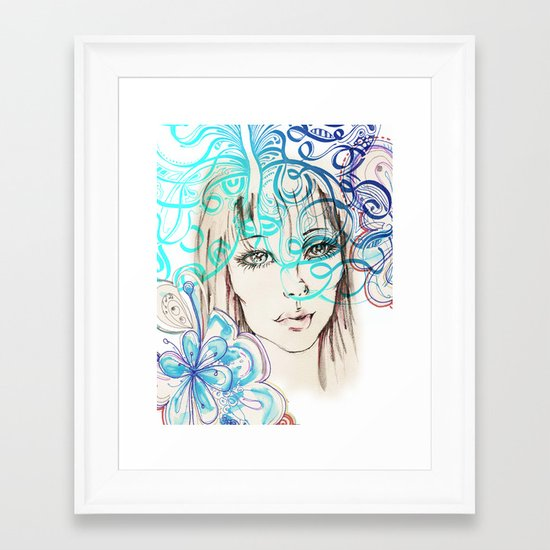 Spring Girl Framed Art Print