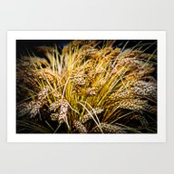 Art Print featuring Sheaf Of Wheat - Thank Y… by Digital2real