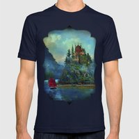 Journey's End Mens Fitted Tee Navy SMALL