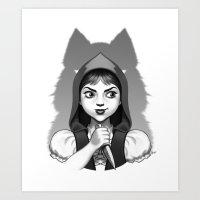 Little Red Riding Hood's Surprise Art Print
