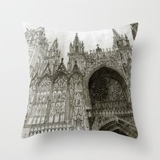 Rouen Facade Throw Pillow
