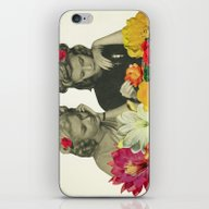 iPhone & iPod Skin featuring Flower Collectors by Cassia Beck