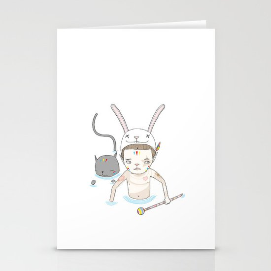 OVER THE BLACK POND Stationery Card