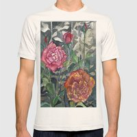 Beautiful Roses Mens Fitted Tee Natural SMALL