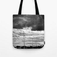 Moody Birds Tote Bag