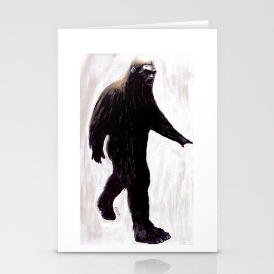 Bigfoot Stationery Card