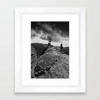 on the edge Framed Art Print