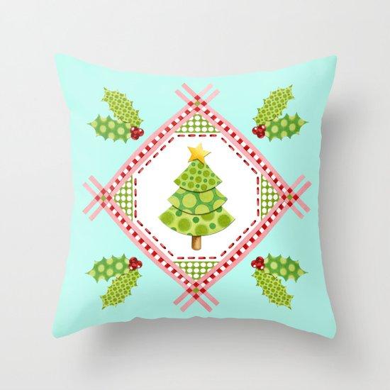 Holiday Polka Dots Throw Pillow
