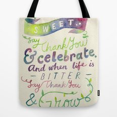 Say Thank You Tote Bag