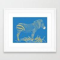 Stripped Zebra Framed Art Print