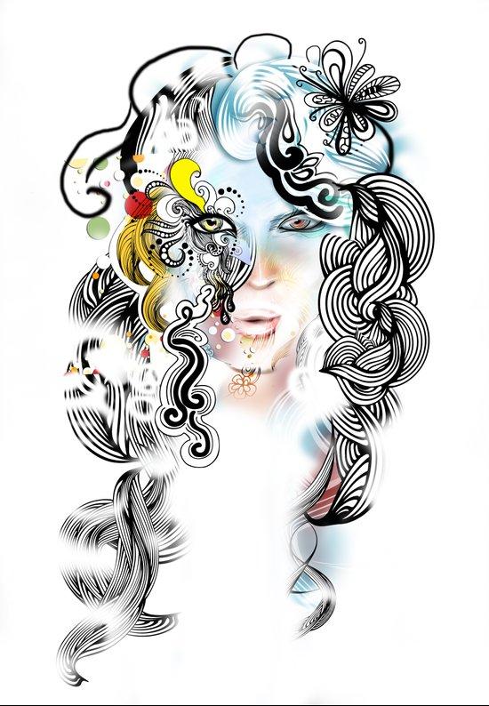 lined Art Print