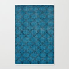 Overdyed Rug 1 Aqua Canvas Print