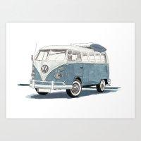 Art Print featuring Volkswagen Transporter by Rik Reimert