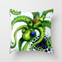 Infinity Octopus Throw Pillow