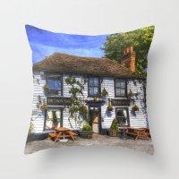 The Theydon Oak Pub Art Throw Pillow