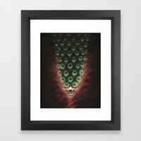The Peacock's Tail Framed Art Print