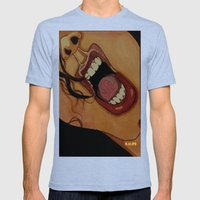 Scream Mens Fitted Tee Tri-Blue SMALL