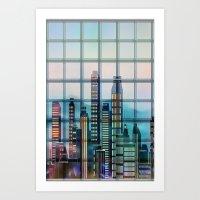Window City Art Print