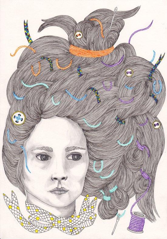 Bad Hair Day III Art Print