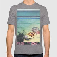 Sea Collections Mens Fitted Tee Tri-Grey SMALL