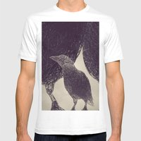 Mr Magpie Mens Fitted Tee White SMALL