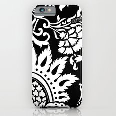 Damask In White And Blac… iPhone 6 Slim Case