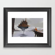 Framed Art Print featuring Island Castle by Michael B. Myers Jr.
