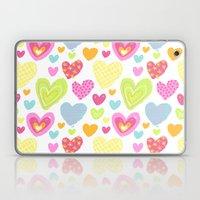 Spring Hearts Laptop & iPad Skin