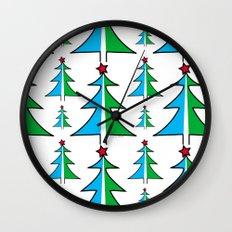 Christmas Tree Pattern Wall Clock