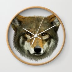 Wolf face Wall Clock