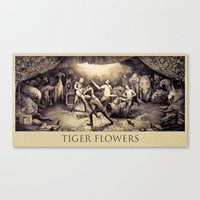 Tiger Flowers Canvas Print