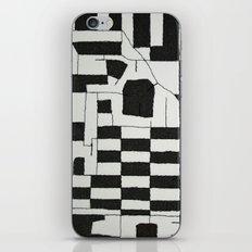 Black & White Map iPhone & iPod Skin